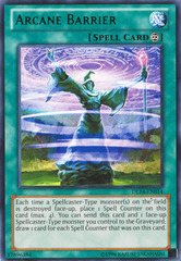 Arcane Barrier - Green - DL14-EN014 - Rare - Unlimited Edition on Channel Fireball