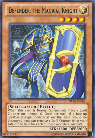 Defender, the Magical Knight - Green - DL14-EN006 - Rare - Unlimited Edition